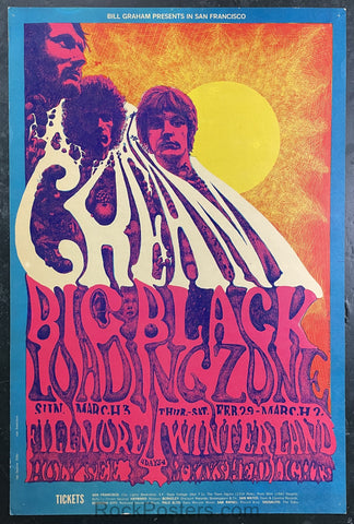 BG-109 - Cream - 1968 Poster - Fillmore Auditorium - Good