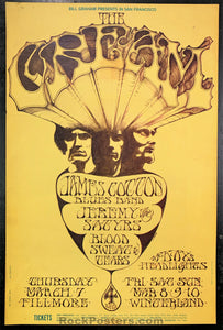 AUCTION - BG110 - Cream James Cotton Mouse Poster - Fillmore & Winterland - Condition - Excellent