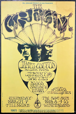BG-110 - Cream - 1968 Poster - Fillmore Auditorium - Very Good