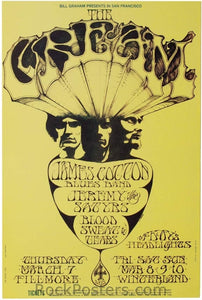 BG110 - Cream Poster - Fillmore Auditorium (07-Mar-68) Condition - Excellent
