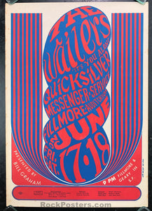 BG-11 - Wailers Poster - Fillmore Auditorium - Condition - Excellent