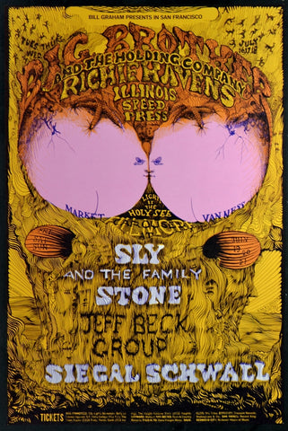 BG129 - Big Brother & The Holding Company Poster - Fillmore Auditorium (Jul- 16-18 & 19-21, 1968) Condition - Mint