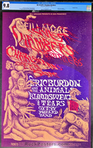 AUCTION - BG-132 - Chambers Brothers Poster - Fillmore West  - CGC Graded 9.8