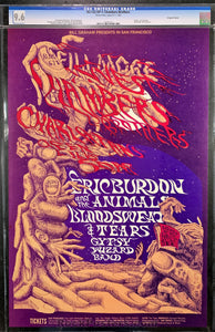 AUCTION - BG132 - Chambers Brothers Poster - Fillmore West - Condition - CGC Graded 9.6
