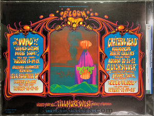 BG133 - The Who Grateful Dead Poster - Fillmore West - Condition - CGC Graded 9.6