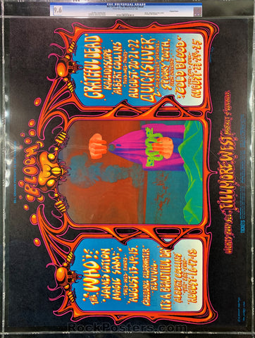 BG133 - The Who Poster - Fillmore West - Condition - CGC Graded 9.6