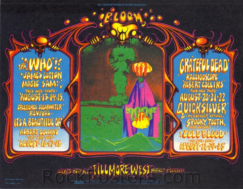 BG133 - The Who Postcard -- Fillmore Auditorium (13-Aug-68) Condition - Near Mint