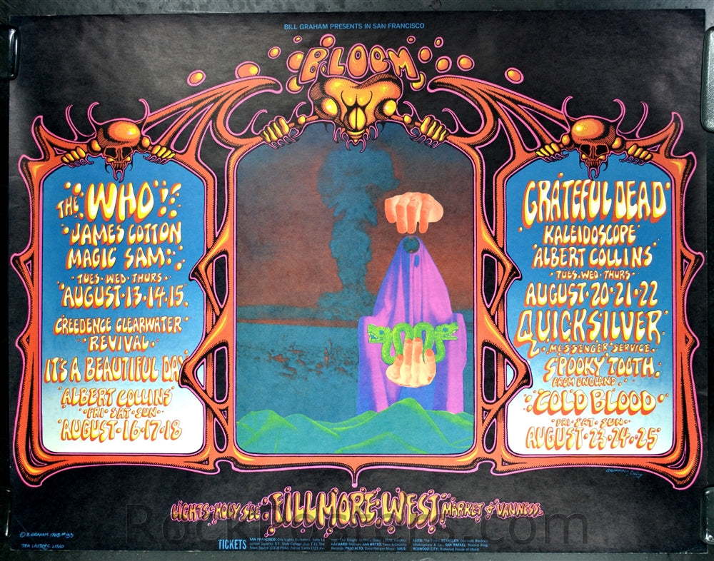 BG133 - The Who Poster - oversize - Fillmore Auditorium (13-Aug-68) Condition - Near Mint
