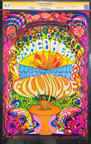 AUCTION - BG-139 - Canned Heat Poster - Lee Conklin Signed - Fillmore West - CGC Graded 8.5