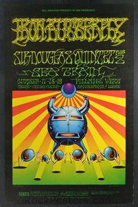 BG141 - Iron Butterfly Poster - Fillmore Auditorium (Oct- 17-19 - 1968) Condition - Near Mint