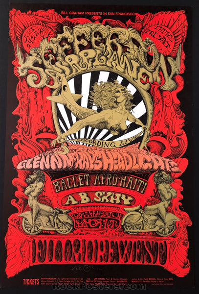 AUCTION - BG142 - Jefferson Airplane Lee Conklin SIgned - Fillmore Auditorium - Condition - Near Mint