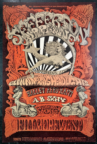BG142 - Jefferson Airplane Poster  - Fillmore West - Condition - Excellent