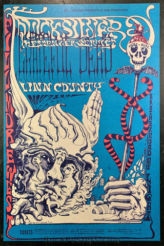 AUCTION - BG-144 - Grateful Dead 1968 Poster - Lee Conklin - Fillmore West - Near Mint