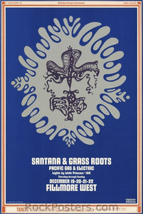 BG150 - Santana Poster - Fillmore Auditorium (19-Dec-68) Condition - Near Mint