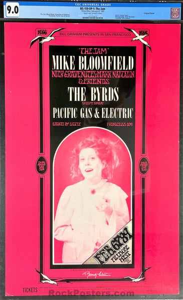 BG-159 - Mike Bloomfield - 1969 Poster - Randy Tuten Signed - Fillmore West - CGC Graded 9.0
