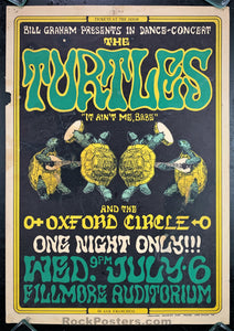 BG15 - Turtles Poster - Fillmore Auditorium - Condition - Rough