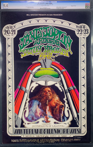 BG165 - Janis Joplin and Her Band Poster - Winterland  -  Artist Signed - Condition - CGC Graded 9.4