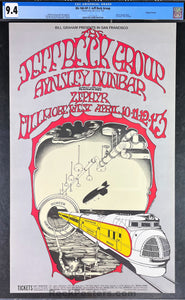 AUCTION - BG-168 - Jeff Beck Group  - 1969 Poster - Fillmore West - CGC Graded 9.4