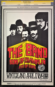 AUCTION - BG-169 - The Band Poster - Randy Tuten Signed - Winterland - CGC Graded 9.8