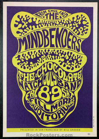 AUCTION - BG16  - Chocolate Watchband Mindbenders 1966 Fillmore Concert Poster - Condition - Excellent