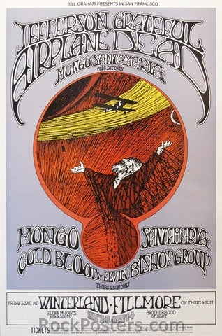 BG171 - Jefferson Airplane Poster - 2nd print - Fillmore Auditorium (01-May-69) Condition - Near Mint