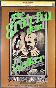 AUCTION - BG176 - The Grateful Dead Tuten Signed Poster - Fillmore West - Condition - CGC Graded 9.2