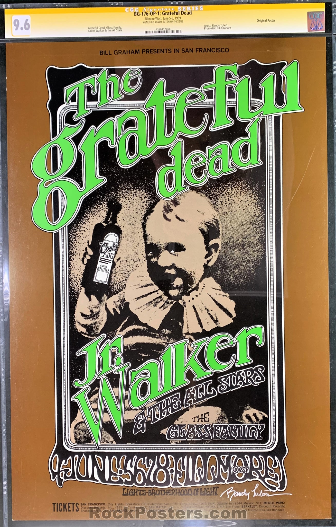 BG176 - The Grateful Dead Signed Poster - Fillmore West - Condition - CGC Graded 9.6