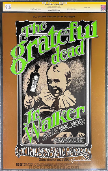 AUCTION - BG-176 - The Grateful Dead Poster - Randy Tuten Signed - Fillmore West - CGC Graded 9.6