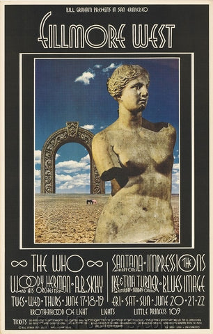 BG178 - The Who Poster - Fillmore Auditorium (17-Jun-69) Condition - Excellent