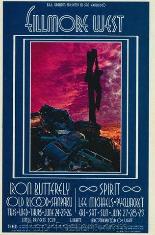 BG179 - Iron Butterfly Poster - Fillmore Auditorium (24-Jun-69) Condition - Excellent