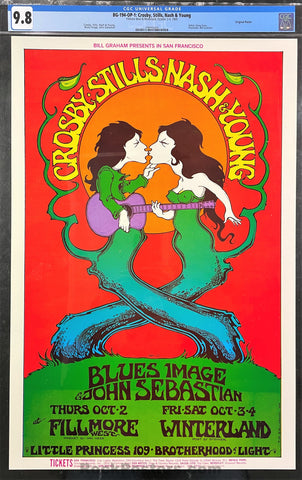 BG-194 - Crosby, Stills, Nash and Young - 1969 Poster - Fillmore West -  CGC Graded 9.8