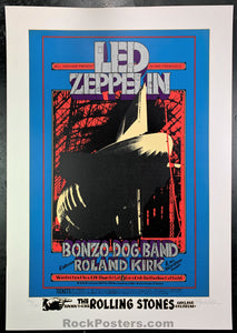 BG199 - Led Zeppelin Serigraph Signed Poster - Winterland - Condition - Near Mint Minus