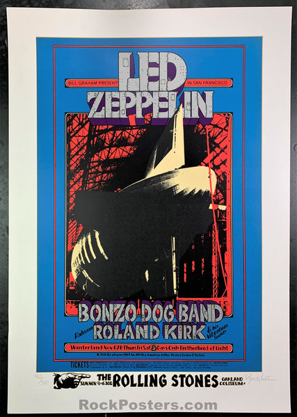 BG-199 - Led Zeppelin Serigraph Signed Poster - Winterland - Condition - Near Mint Minus