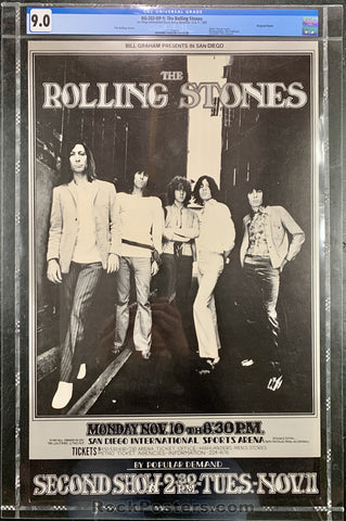 BG-202 - The Rolling Stones Poster - San Diego Intl Sports Arena - Condition - CGC Graded 9.0