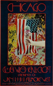 BG211 - Chicago Poster - Signed Singer - Fillmore Auditorium (08-Jan-70) Condition - Near Mint