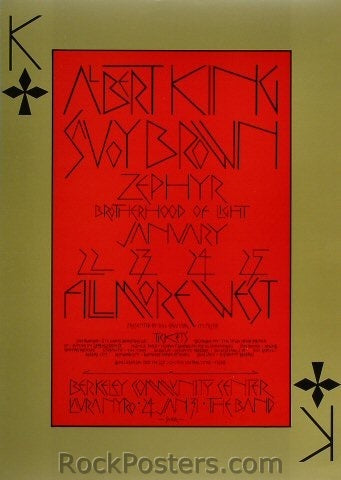 BG213 - Albert King Poster - Fillmore Auditorium (22-Jan-70) Condition - Near Mint