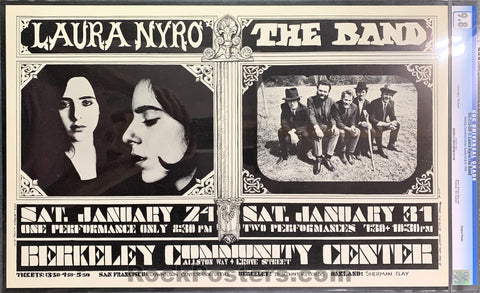 BG-215 - Laura Nyro The Band Poster - Berkeley Community Theater - Condition - CGC Graded 9.8