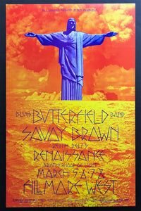AUCTION - BG-221 - Butterfield Blues Band - 1970 Poster - David Singer Signed - Fillmore West - Mint