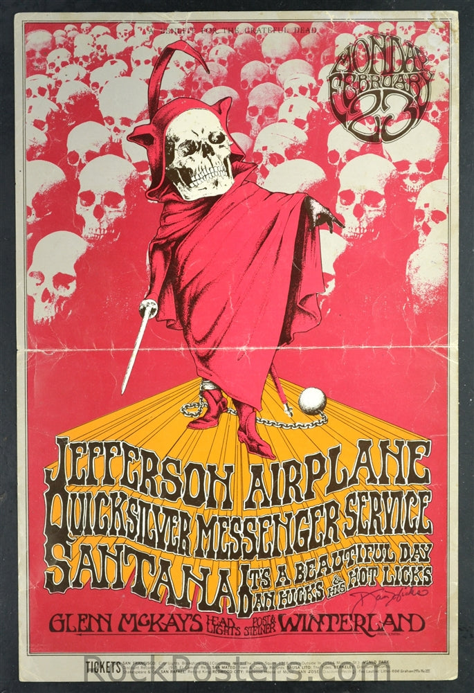 BG222 - Jefferson Airplane Poster - Winterland (23-Feb-70) Condition - Mint