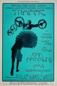BG241 - Traffic with Stevie Winwood, Chris Wood Poster - Fillmore Auditorium (30-Jun-70) Condition - Excellent