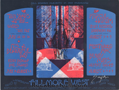 AUCTION - BG-245 - Ten Years After Postcard - David Singer Signed - Fillmore West - Excellent