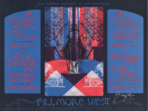 AUCTION - BG245 - Ten Years After 1970 Singer Signed Postcard - Fillmore West - Condition - Near Mint