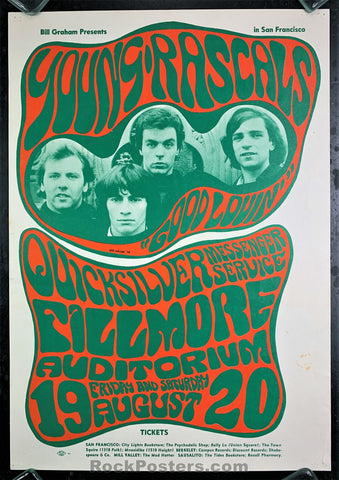 BG24 - The Young Rascals Poster - Fillmore Auditorium - Condition - Excellent