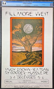 AUCTION -  BG-259 - Savoy Brown - 1970 Poster - David Singer Signed - Fillmore Auditorium - CGC Graded 9.4