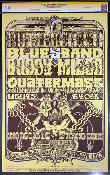 BG-261 - Butterfield Blues Band - 1970 Poster - Norman Orr Signed - Fillmore West - CGC Graded 9.4