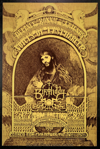 AUCTION - BG262  - Artist Signed Original 1970 Poster - Fillmore West - Condition - Near Mint Minus