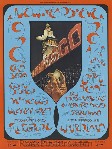 BG263 - Cold Blood Poster - oversize - Fillmore Auditorium (31-Dec-70) Condition - Excellent