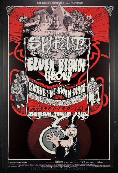 AUCTION - BG265  - Spirit Original  1971 Poster Artist SIGNED  - Fillmore West  - Condition - Near Mint Minus