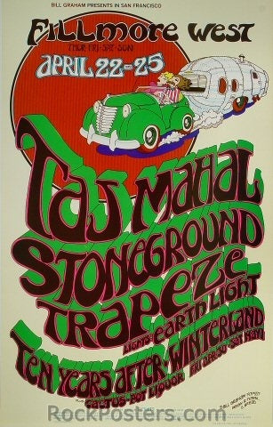 BG277 - Taj Mahal Poster - Fillmore Auditorium (22-Apr-71) Condition - Near Mint