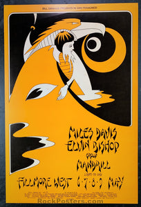 AUCTION - BG 279 & 280  - Miles Davis 1971 Original Posters (2)   - Fillmore West - Condition - Near Mint Minus